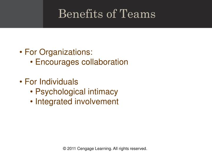 Benefits of Teams