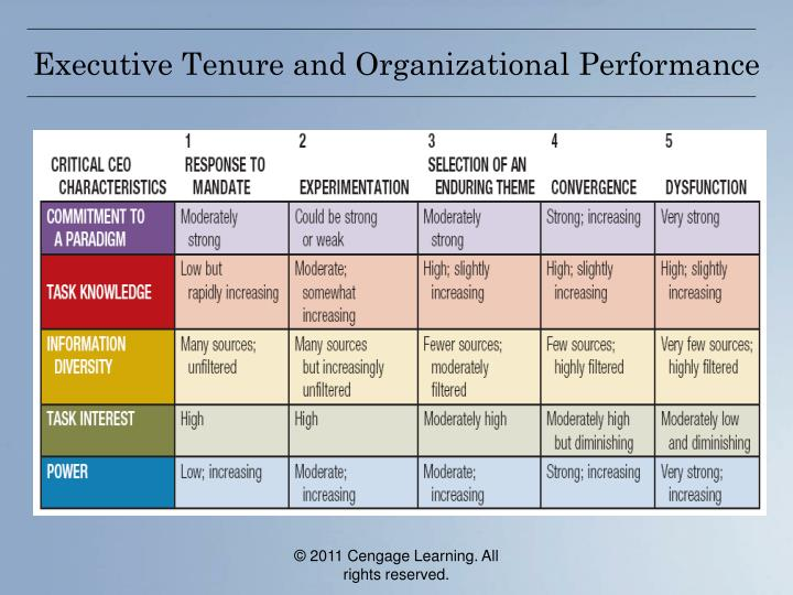 Executive Tenure and Organizational Performance