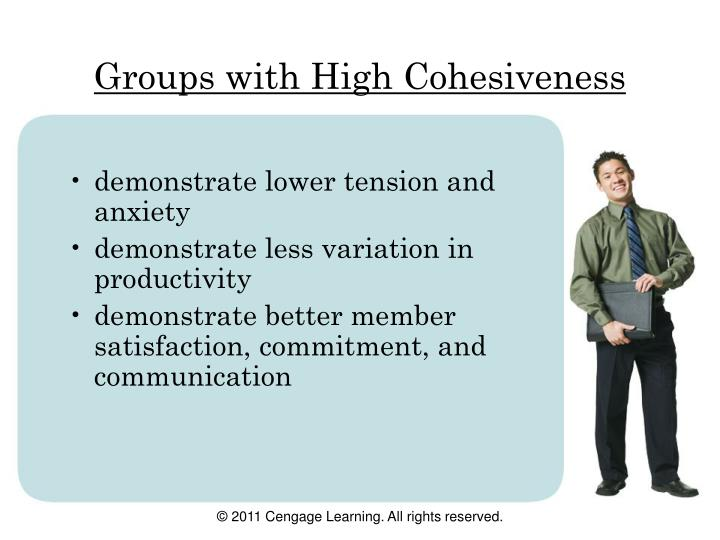 Groups with High Cohesiveness