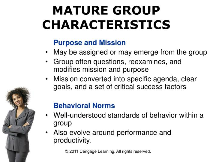 MATURE GROUP CHARACTERISTICS