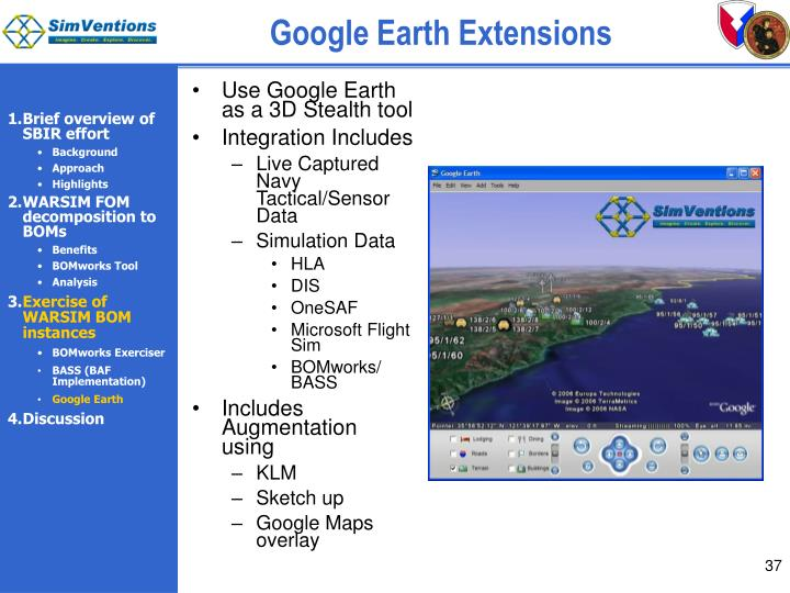 Google Earth Extensions