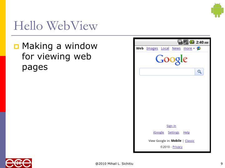 Hello WebView
