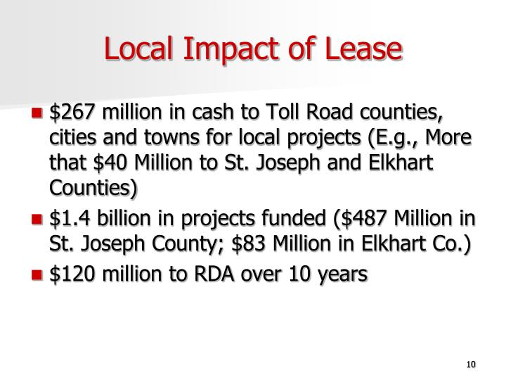 Local Impact of Lease