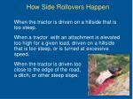 how side rollovers happen