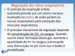 regula o do ritmo respirat rio
