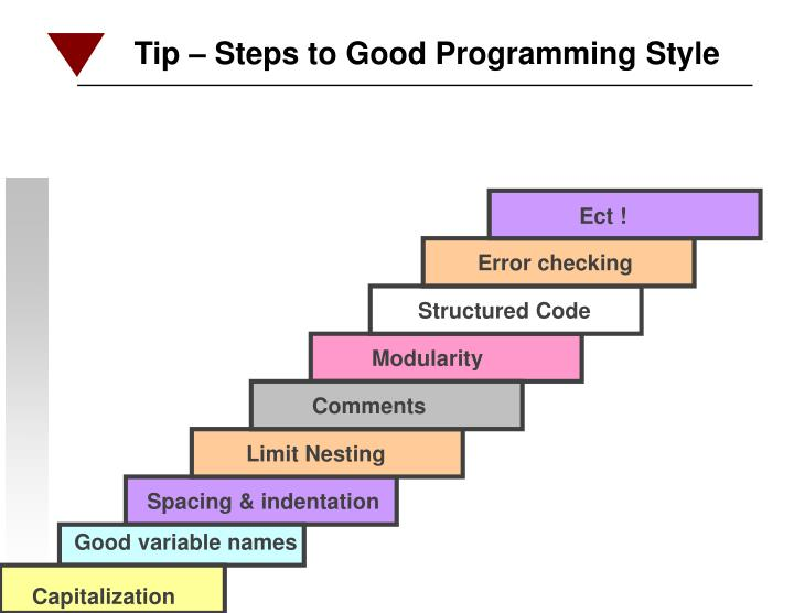 Tip – Steps to Good Programming Style