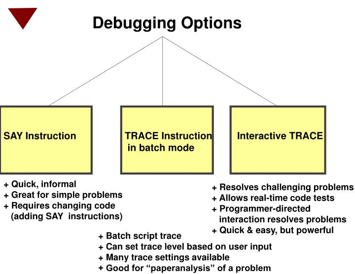 Debugging Options