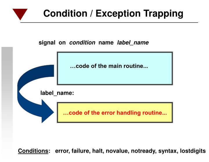 Condition / Exception Trapping