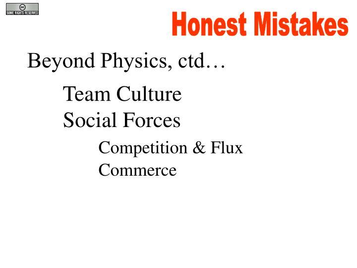 Honest Mistakes