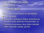 chondrodysplas a punctata rizomelik tip