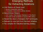 emerging methods for extracting relations