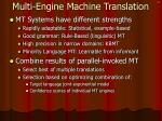 multi engine machine translation