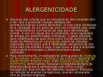alergenicidade