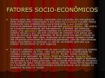 fatores socio econ micos