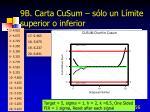 9b carta cusum s lo un l mite superior o inferior