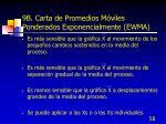 9b carta de promedios m viles ponderados exponencialmente ewma