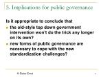 5 implications for public governance