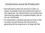 compromiso anual de producci n
