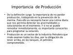 importancia de producci n