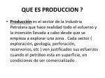 que es produccion
