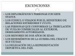 excenciones