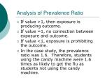 analysis of prevalence ratio