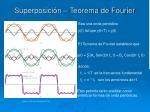 superposici n teorema de fourier