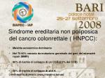 sindrome ereditaria non poliposica del cancro colonrettale hnpcc