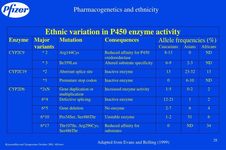 Pharmacogenetics and ethnicity