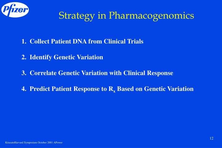 Strategy in Pharmacogenomics