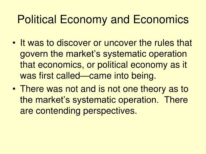 Political Economy and Economics