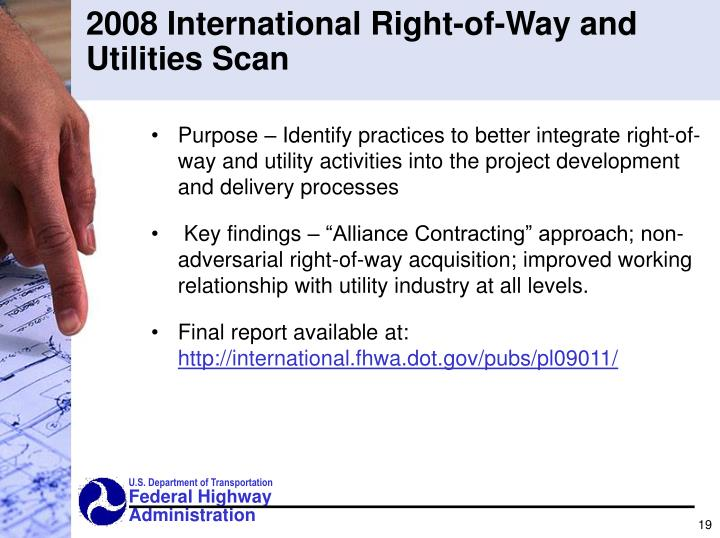 2008 International Right-of-Way and Utilities Scan
