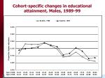 cohort specific changes in educational attainment males 1989 99