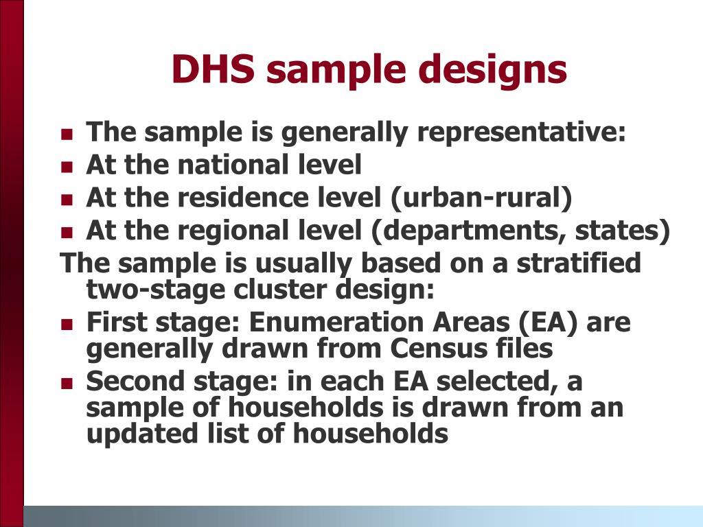 DHS sample designs