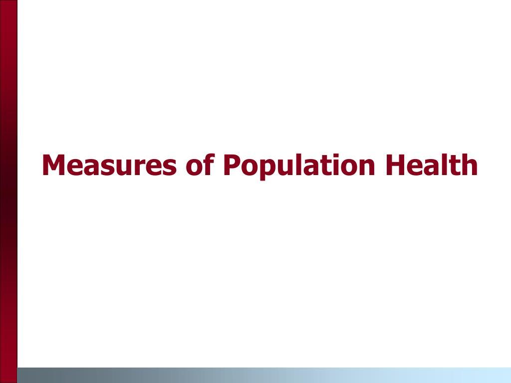Measures of Population Health