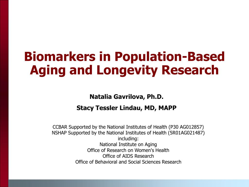 Biomarkers in Population-Based Aging and Longevity Research