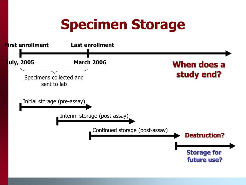 Specimen Storage