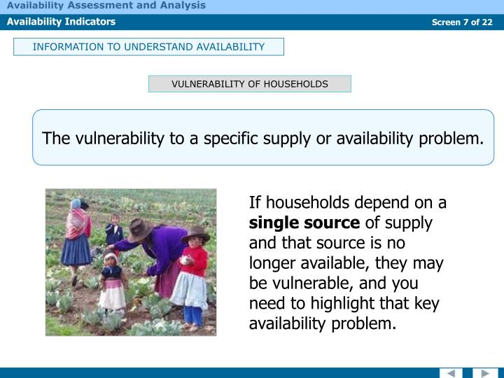 INFORMATION TO UNDERSTAND AVAILABILITY