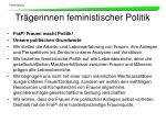 tr gerinnen feministischer politik