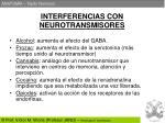 interferencias con neurotransmisores