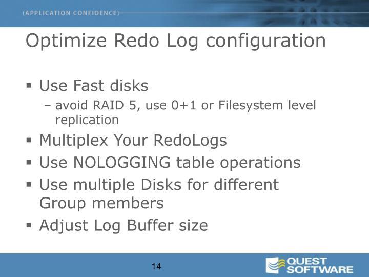 Optimize Redo Log configuration