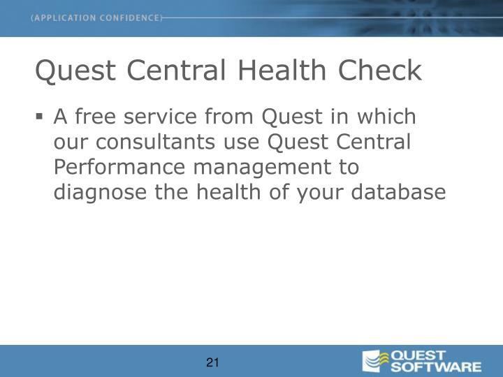 Quest Central Health Check