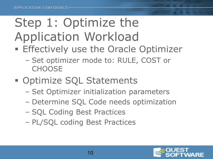 Step 1: Optimize the Application Workload