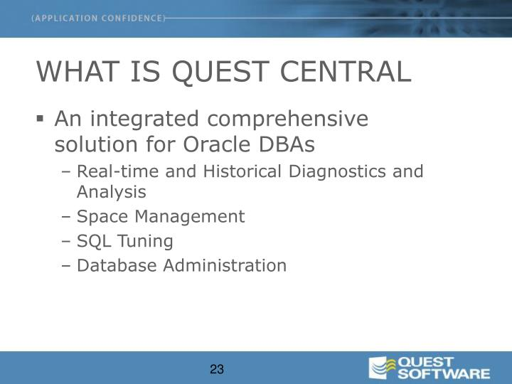 WHAT IS QUEST CENTRAL