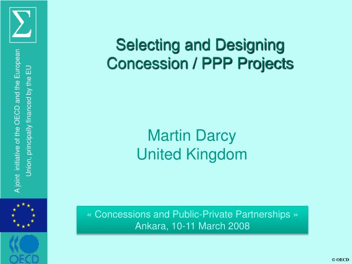 selecting and designing concession ppp projects n.
