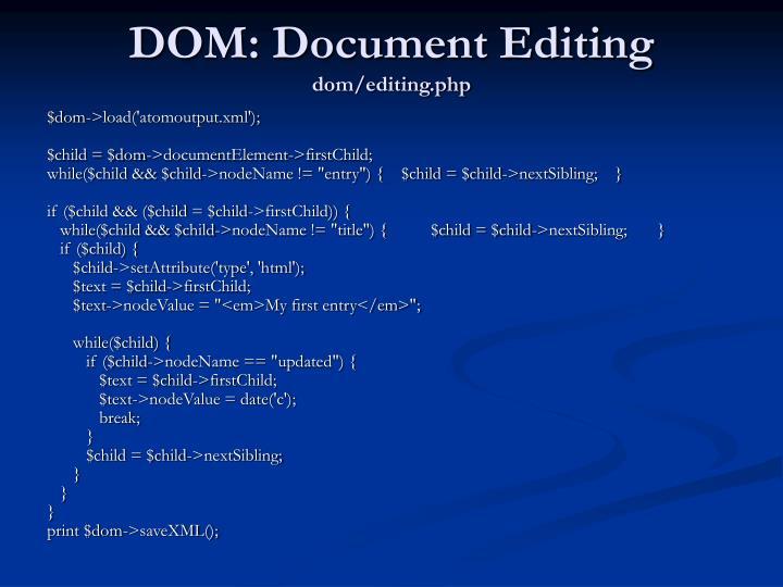 DOM: Document Editing