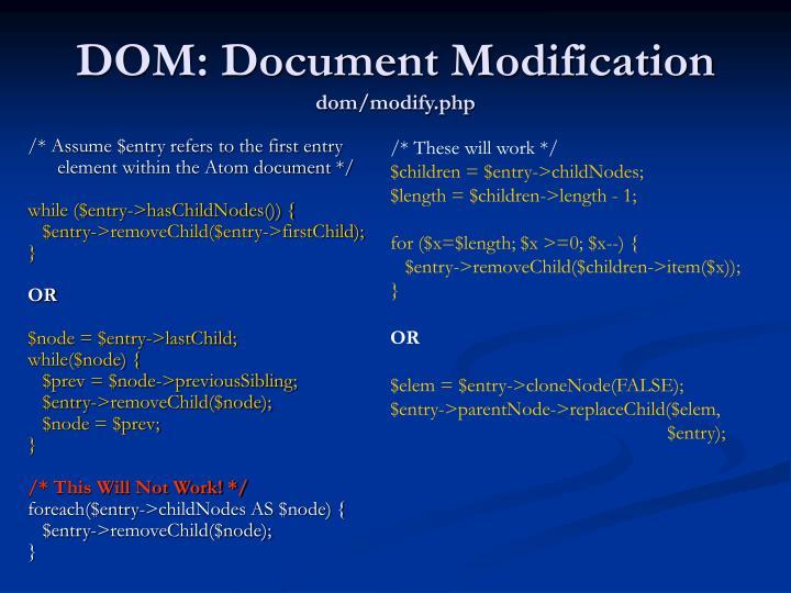 DOM: Document Modification