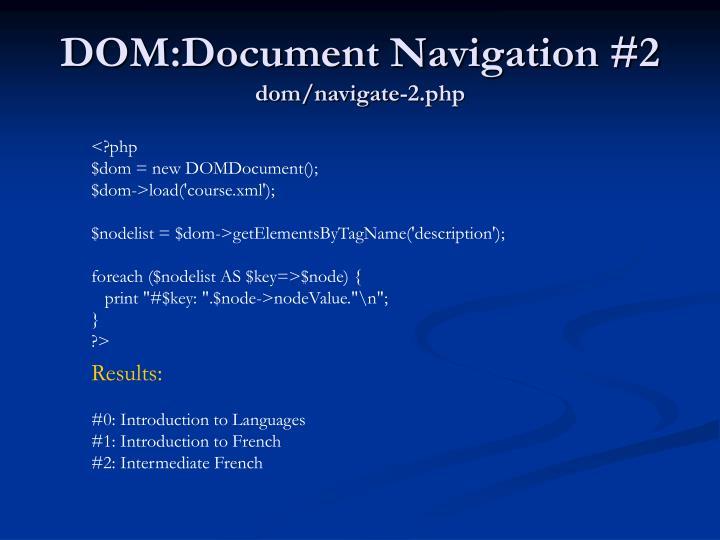 DOM:Document Navigation #2