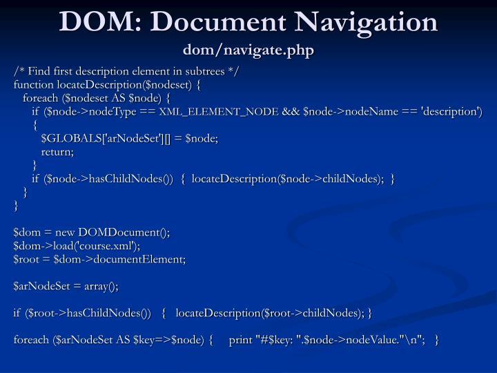DOM: Document Navigation