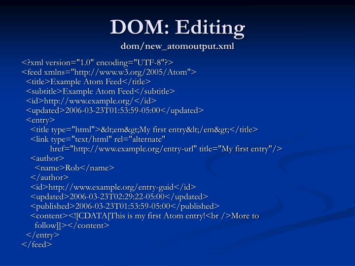 DOM: Editing